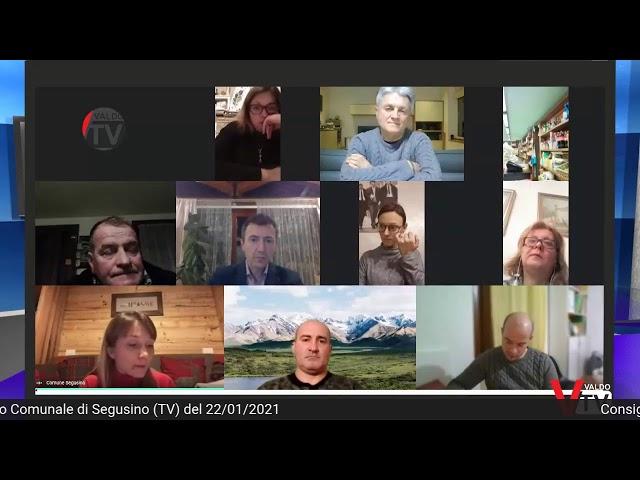 Consiglio Comunale di Segusino (TV) del 22 gennaio 2021