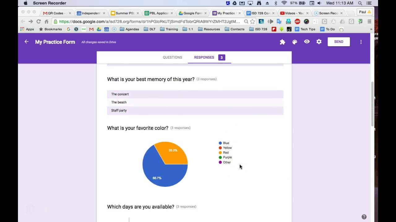 Google Forms: View Summary of Responses - YouTube