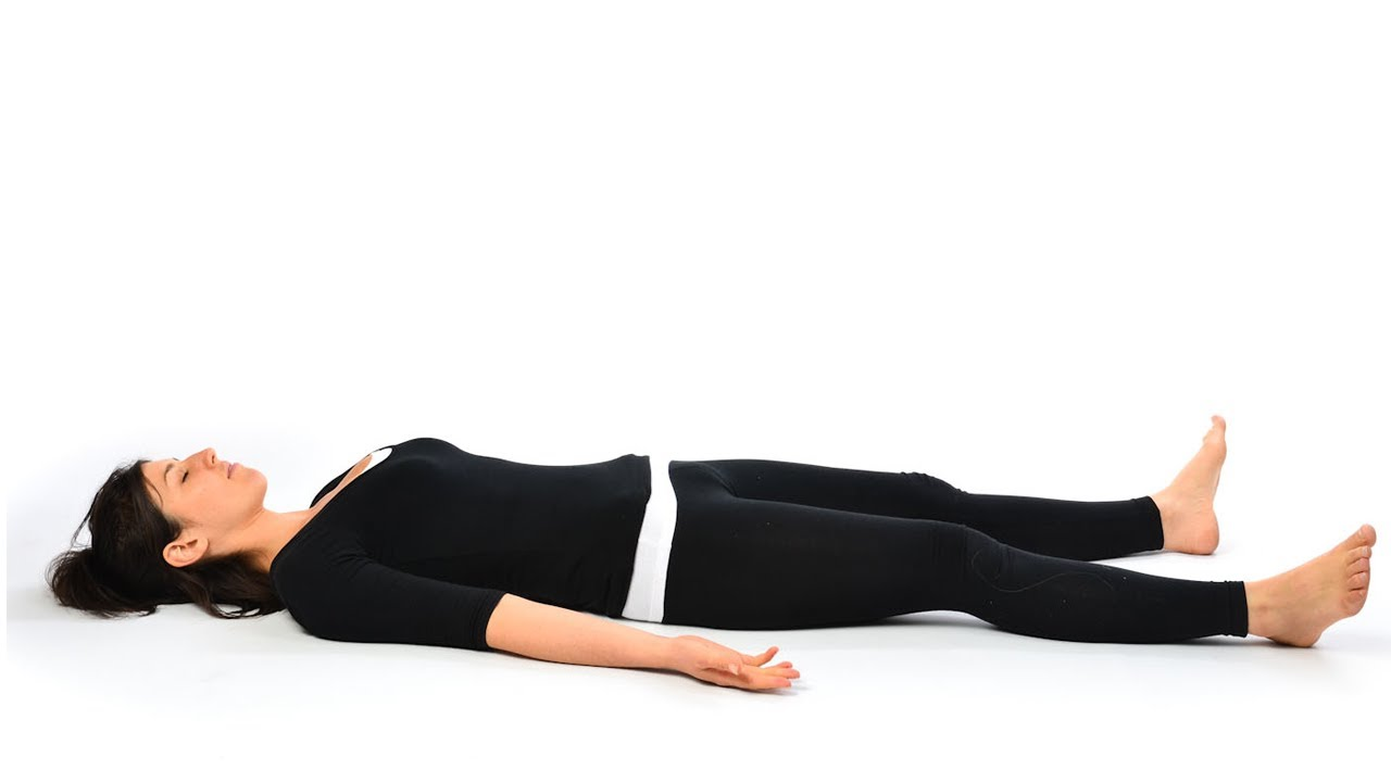 Shavasana - Corpse Posture, Yoga Relaxation, Exercise for During ...