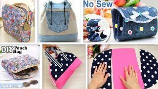 FANTASTIC DIYs POUCH BAG IDEAS // Cut & Sew Purses Just In A Few Min
