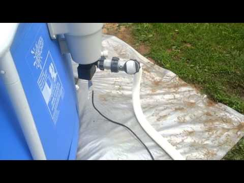 Summer Escapes pool with an Intex Sand filter
