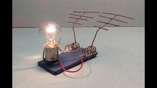 Wireless signals electricity generator , free energy device new project at home 2018