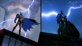 Batman: The Animated Series Intro Arkham Style (Side-by-Side Comparison)