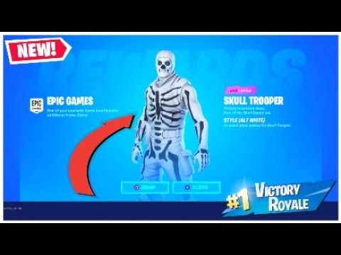 *UNLOCKING* The New FREE White Skull Trooper Skin In Fortnite Chapter 2..