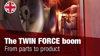 From parts to product: The TWIN FORCE boom