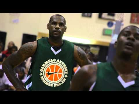 NBA All Stars at Morgan State University with Lebron James and Carmelo Anthony