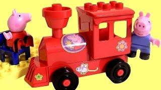 Peppa Pig Locomotive Blocks Mega Train Construction Set - Bloques Estación De Tren Juego Megabloks