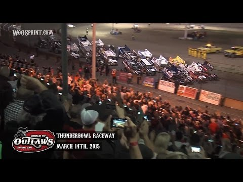 Highlights: World of Outlaws Sprint Cars Thunderbowl Raceway March 14th, 2015