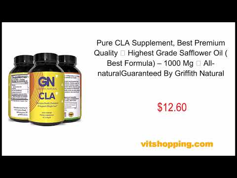 ure CLA Supplement, Best Premium Quality ★ Highest Grade Safflower Oil (Best Formula) – 1000 Mg ★