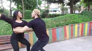 BACHATA DANSI- KOŞUYOLU PARKI-ABDA DANCERS -ONUR&AIYM -  Aytunç Bentürk Dans Akademi