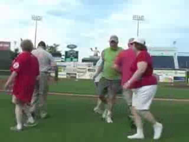Square Dancing at Sea Dogs Baseball Game
