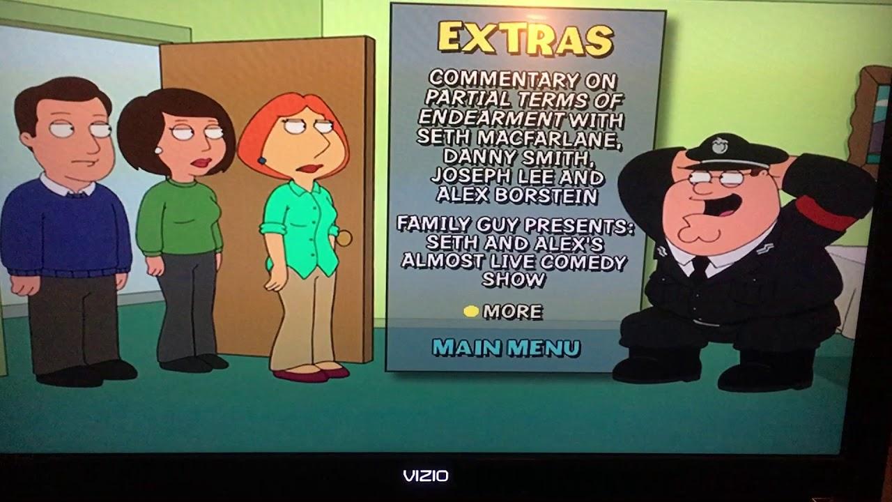 Family Guy Partial Terms of Endearment Menu walkthrough!