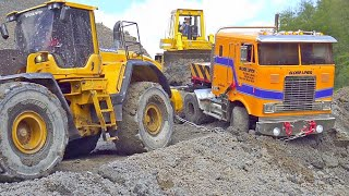 RC BC8 & MAN 6x6 at the Most violent Construction Site! Kirovets K700 on MUD / RC MUDRUNNER