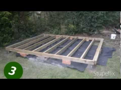 How To Lay Down A Shed Base Foundation Youtube