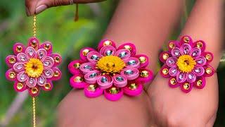 how to make paper rakhi | Quilling paper |rakhi making |handmade rakhi tutorial |Art with Creativity