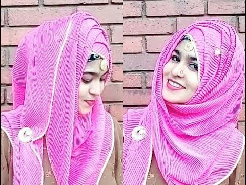 ZigZag Hijab Style With Saree - হিজাব স্টাইল | Modest ...