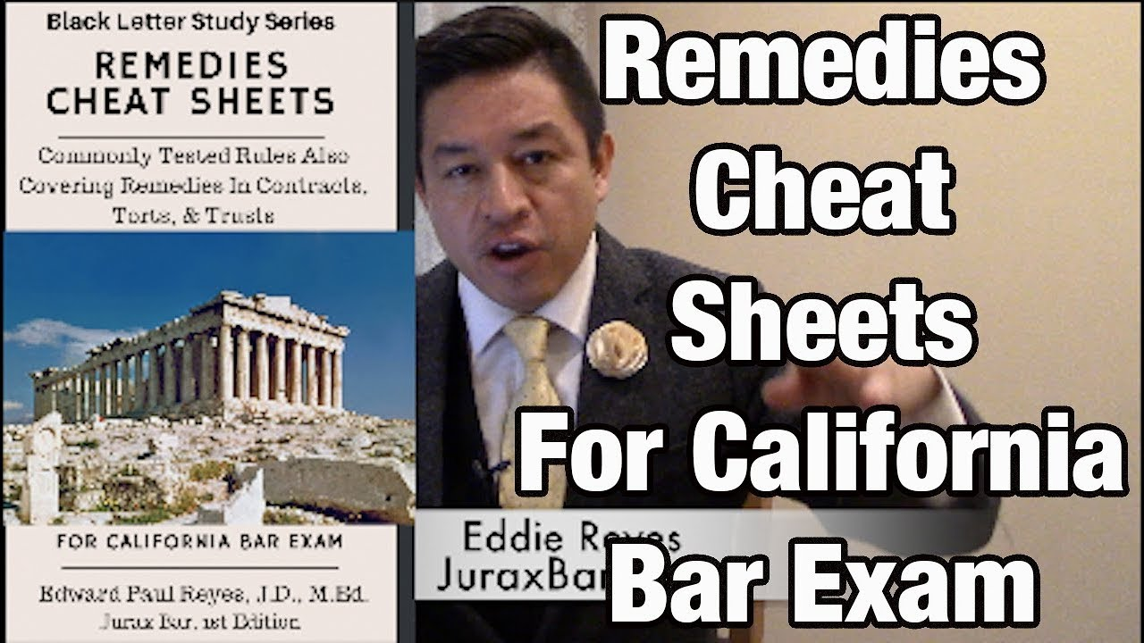 Remedies Cheat Sheets for California Bar Exam for July 2019