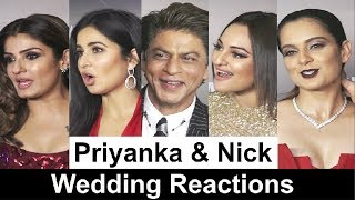 Bollywood Actors Reaction On Priyanka Chopra And Nick Jonas Wedding