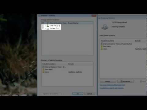 Windows 7 Search Index - Increase Windows Speed [Tutorial]