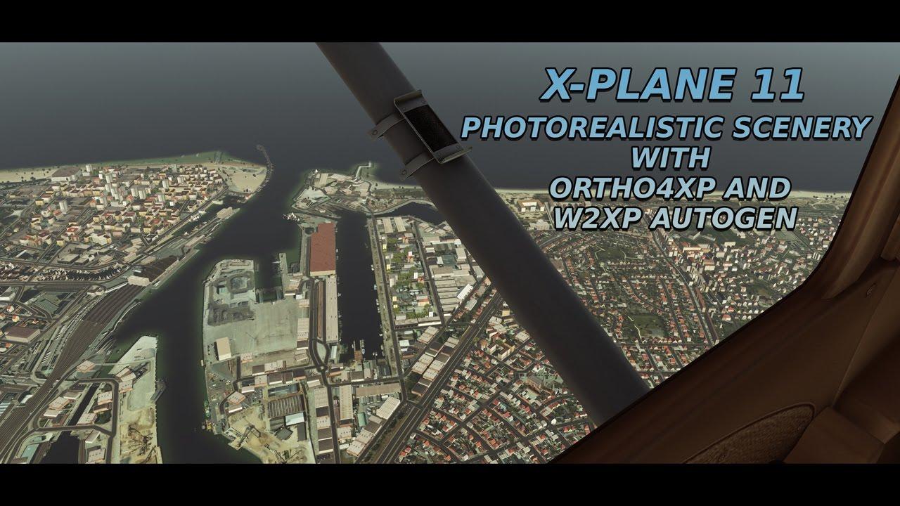 [X-PLANE 11] Ortho4XP custom photorealistic scenery with w2xp autogen