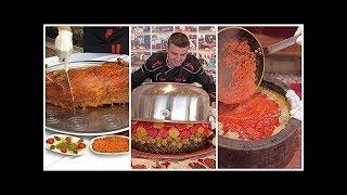 شاهد ابداع الشيف بوراك في طهي الخروف..See Chef Bourak 's creativity in cooking the lamb