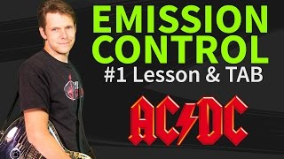 How To Play Emission Control Guitar Lesson & TAB #1 - AC/DC