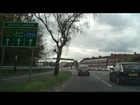 Driving in London - Highgate to Ealing (North Circular)