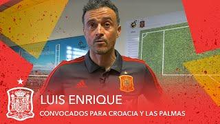 VIDEO | Luis Enrique presenta su colección de convocados para Croacia y Las Palmas