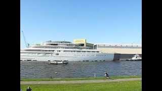World's largest Superyacht Azzam at Lürssen