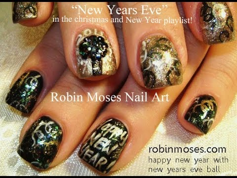 Nail Art Tutorial | Easy NYE nails | DIY New Years Eve Nail Art Design! - Nail Art Tutorial Easy NYE Nails DIY New Years Eve Nail Art