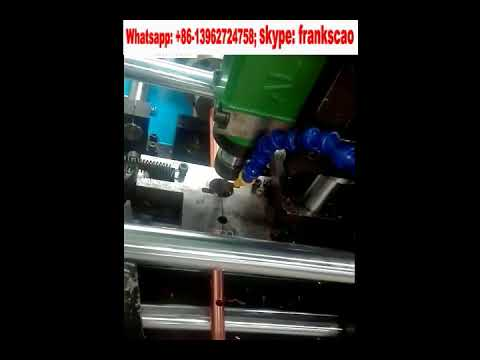 copper tube collar hole punching & drilling machine