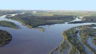 YELLOWSTONE AND MISSOURI RIVERS CONFLUENCE