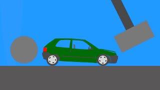 Extreme Car Destruction  Phun Algodoo Crash Moments