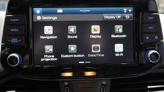 Hyundai i30 Wagon 2017 dashboard interior hands-on [GimSwiss 2017]