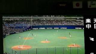 ようやく山井投手登場 始球式の前に番組紹介VTR そして坂東英二さん登場...