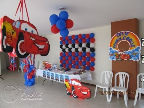 CARS THEME PARTY DECORATION YouTube