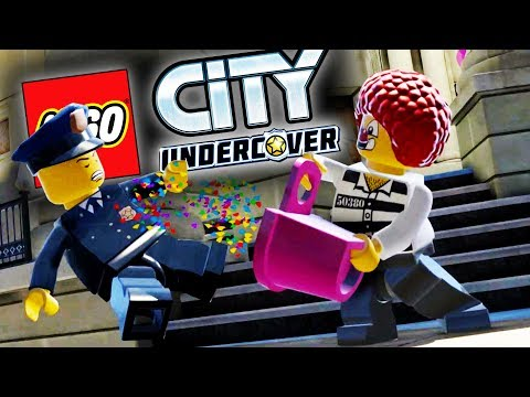 Lego City Undercover Game | CLOWNS ROBBERS! | Lego City Undercover HD Gameplay - Chapter 1