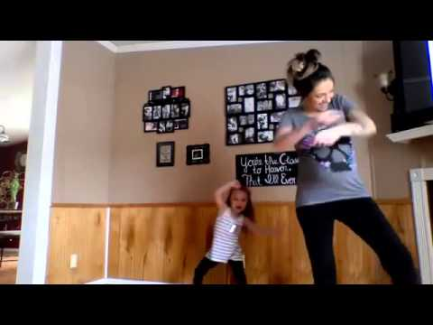 Pregnant Mom & Adorable Daughter Dance