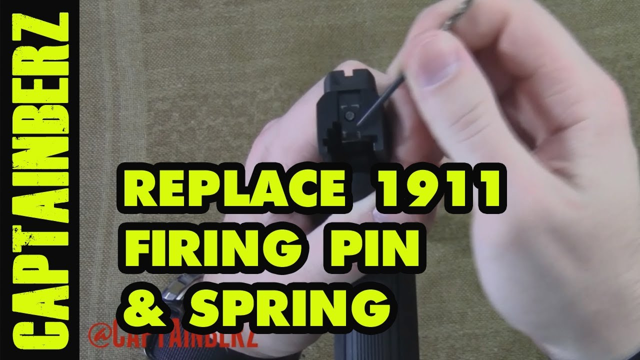 1911 Replacing The Firing Pin Return Spring Youtube Glock 22 Parts Diagram Also With Kimber