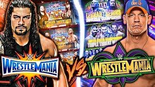 WrestleMania 34 Vs WrestleMania 33! **BOTH CARDS**