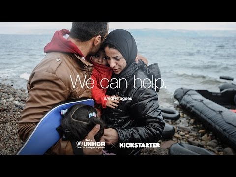 Join Kickstarter and the UN Refugee Agency to help #AidRefugees.