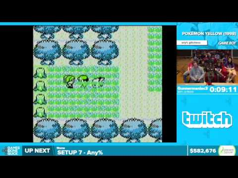 Pokemon Yellow by Gunnermaniac3 in 2:08:49 - Awesome Games Done Quick 2016 - Part 129