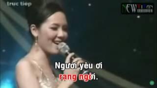 Cơn mưa tình yêu - Karaoke (thiếu giọng nam)