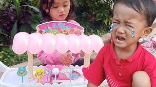 Kaka Adik Bermain Mainan Es krim Tapi Adik Malah Nangis Kejer | Salsakids