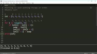 Python Programming Series (Sorting): Bubble sort