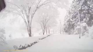 ドラレコ:雪道路(北広島千代田周辺)
