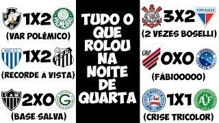 Mistão quente do Verdão / Boselli faz 2 / Santos recordista / Cruzeiro e Galo sobem / Bahia em queda