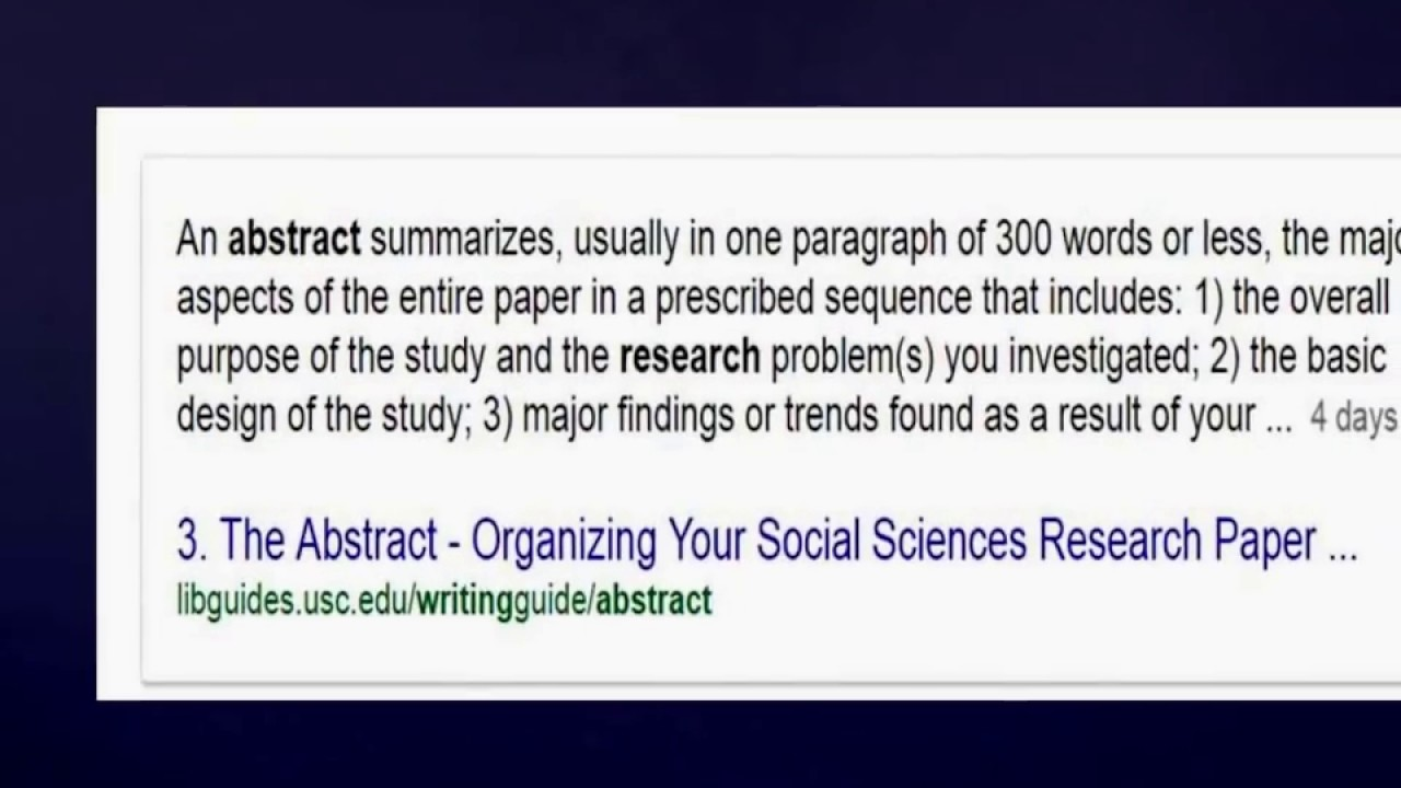 Howto Publish an Abstract On Your Research Paper