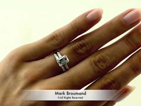 206ct Emerald Cut Diamond Engagement Anniversary Ring YouTube