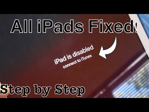 """ALL IPADS FIXED: """"iPad Is Disabled Connect To ITunes"""""""